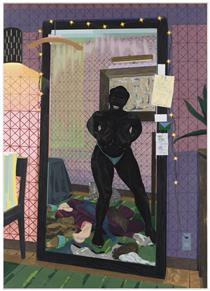 Untitled Mirror Girl - Kerry James Marshall