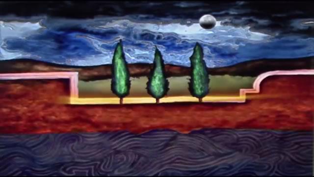 Tres cipreses, 2008 - Claudio Castillo