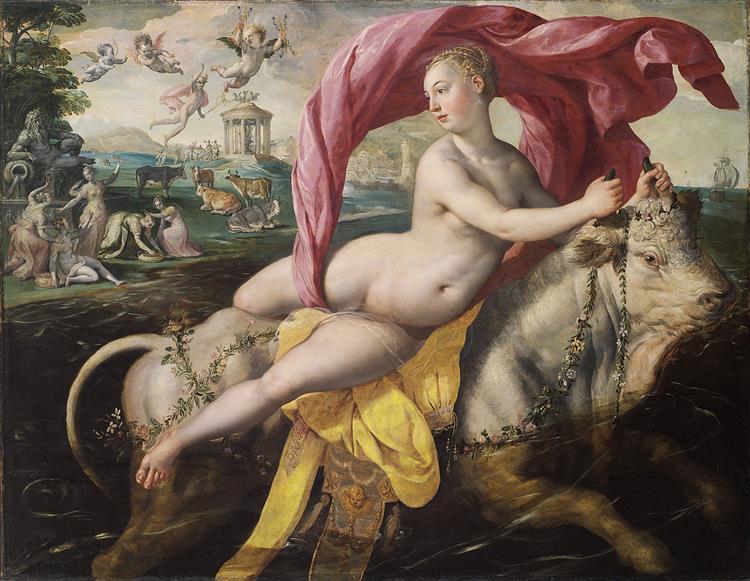 The Rape of Europa, c.1590 - Marten de Vos