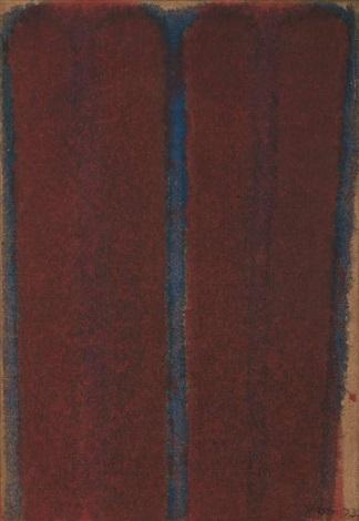 Umber Blue, 1973 - Yun Hyong–keun