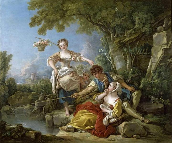 La pêche, 1752 - François Boucher
