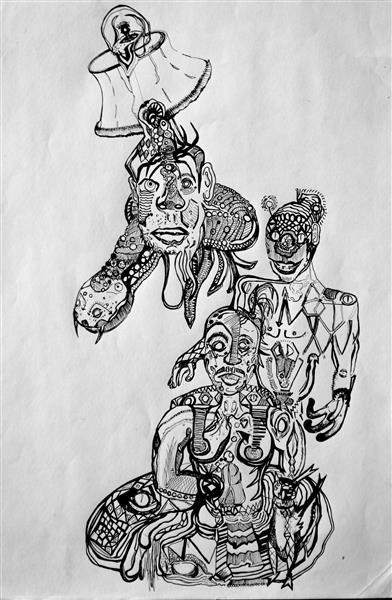 Ink Drawing 2 - Nathan Judds