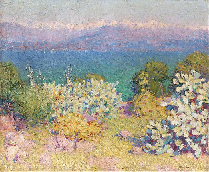 In the morning, Alpes Maritimes from Antibes, 1890 - 1891 - John Peter Russell