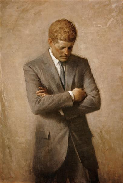 John F. Kennedy Official Portrait, 1970 - Aaron Shikler