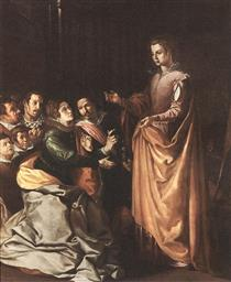 Saint Catherine Appearing to the Prisoners - Francisco Herrera