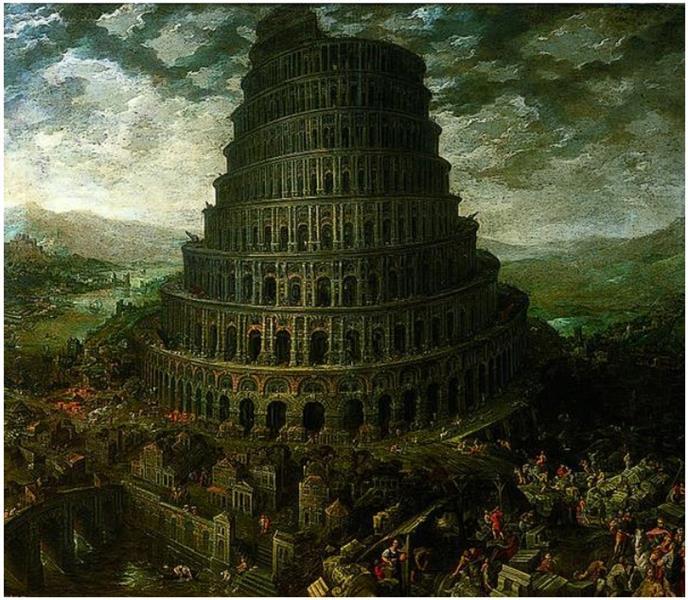 The Tower of Babel 2, 1600 - Tobias Verhaecht