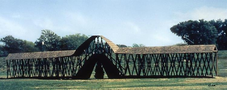Bridge over a Tree, 1970 - Siah Armajani