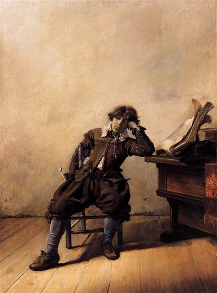 Young Scholar in His Study. Melancholy, 1630 - Pieter Codde
