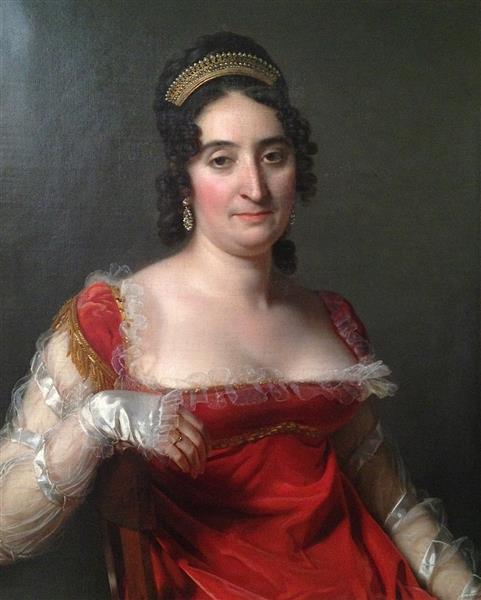 Lady in Red Wearing a Tiara, 1817 - Jérôme-Martin Langlois