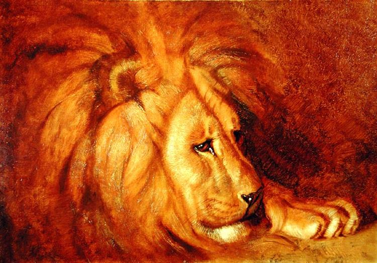 Lion at Rest - Abbott Handerson Thayer