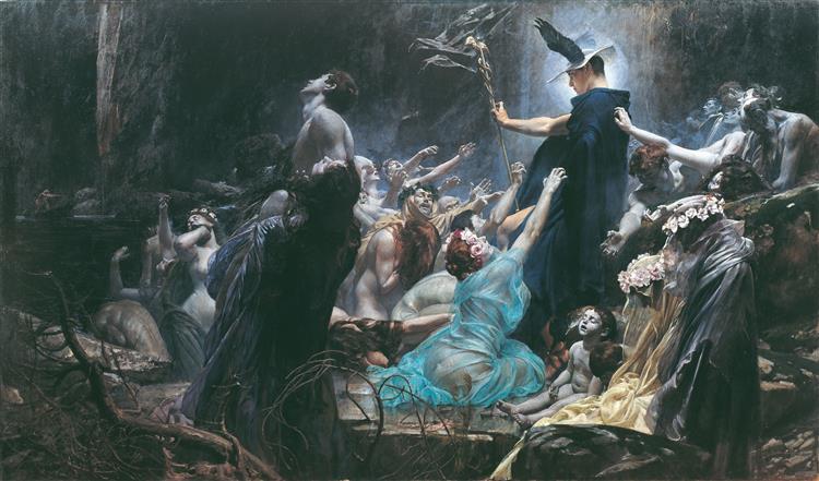The Souls of Acheron, 1898 - Adolf Hirémy-Hirschl