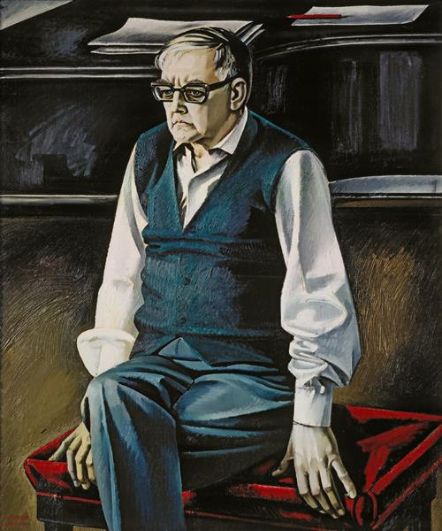 Portrait of Shostakovich, 1976 - Tahir Salahov