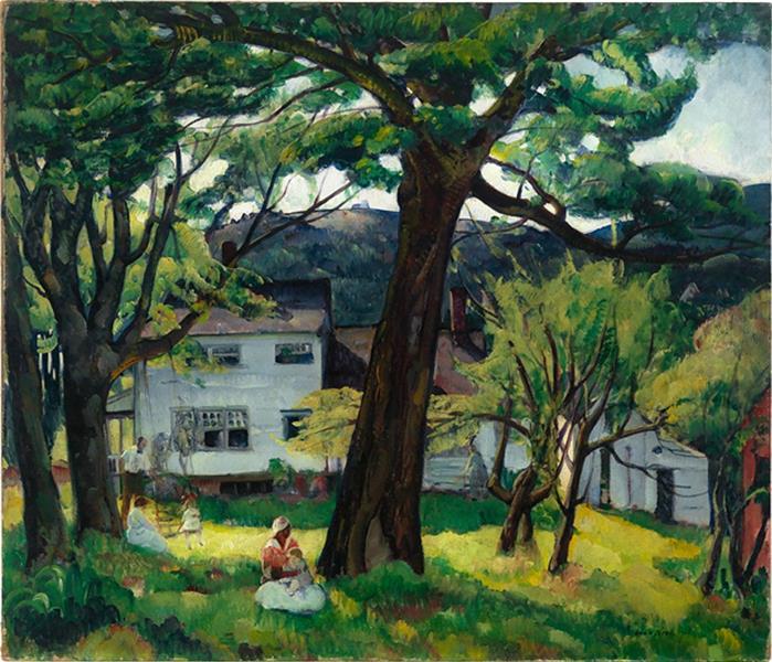 Summer Days, Camden Maine, the Bellows Family, 1916 - Leon Kroll