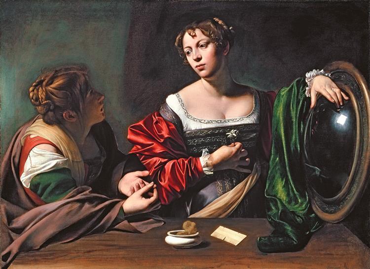 Martha and Mary Magdalene, c.1598 - Caravaggio