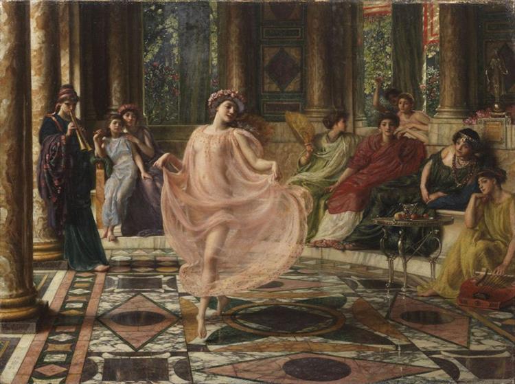 the Ionian Dance Motus Doceri Gaudet Ionicos, Matura Virgo, Et Fingitur Artibus - Edward Poynter