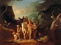 Daniel Boone Escorting Settlers Through the Cumberland Gap - George Caleb Bingham