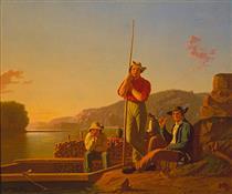 The Wood-boat - George Caleb Bingham