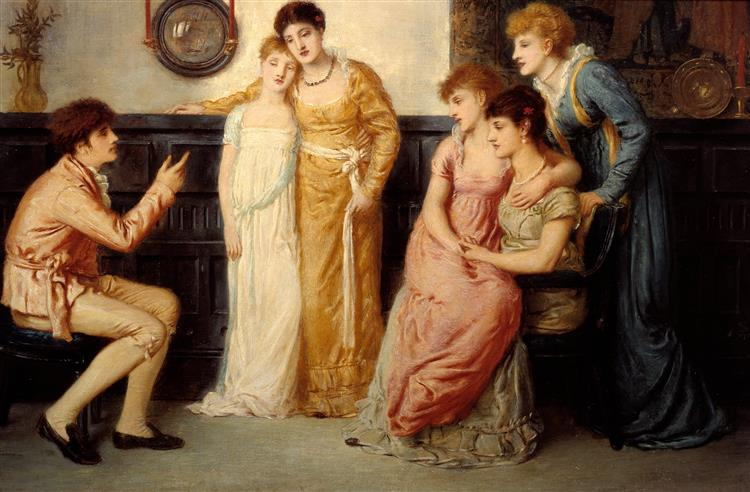 A Youth Relating Tales to Ladies, 1870 - Simeon Solomon