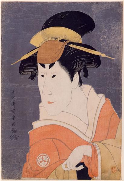 Kabuki Actor Osagawa Tsuneyo II, Possibly in the Rôle of Ippei's Sister Osan, 1794 - Tōshūsai Sharaku