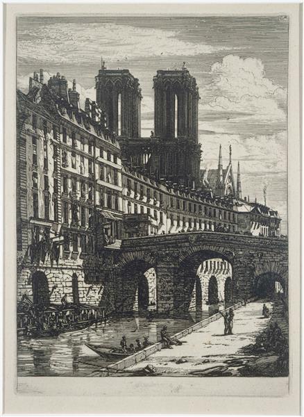 Le Petit Pont, 1850 - Charles Meryon
