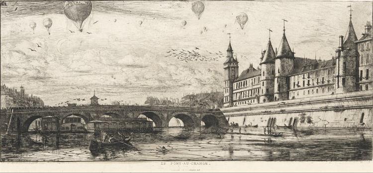 Le Pont-au-change, 1854 - Charles Meryon