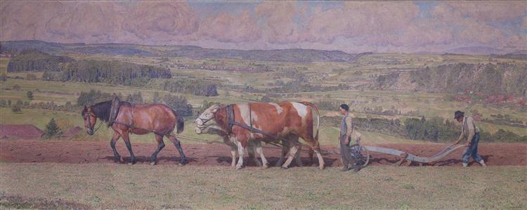 Labour Dans Le Jorat, 1916 - Eugène Burnand