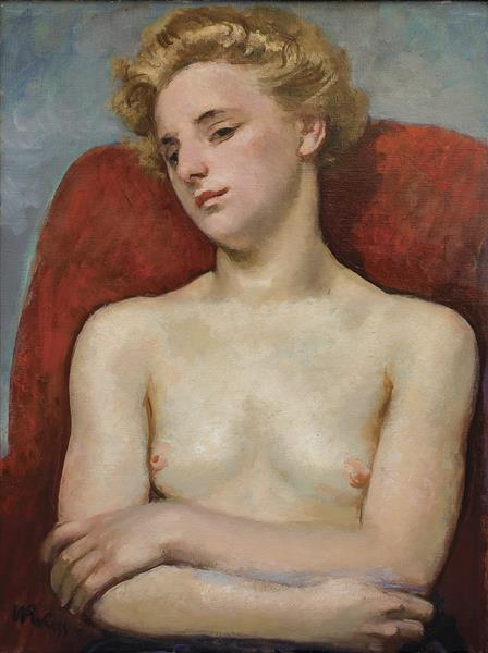 Half-Nude, 1940 - Wojciech Weiss
