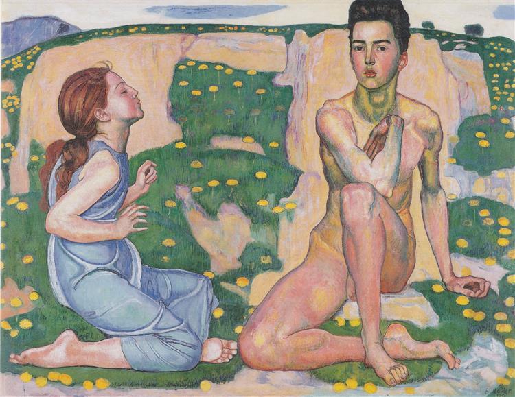 Der Frühling, 1901 - Ferdinand Hodler