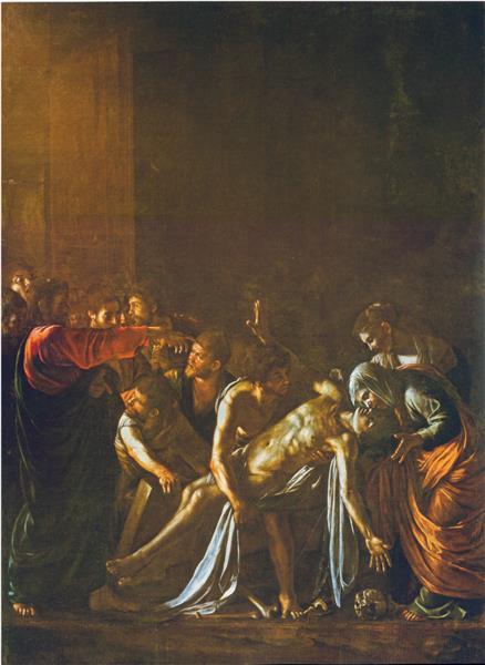 Resurrection of Lazarus, 1608 - 1609 - Caravaggio