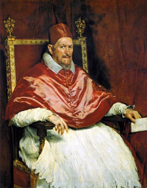 Портрет папы Иннокентия X, 1650 - Диего Веласкес