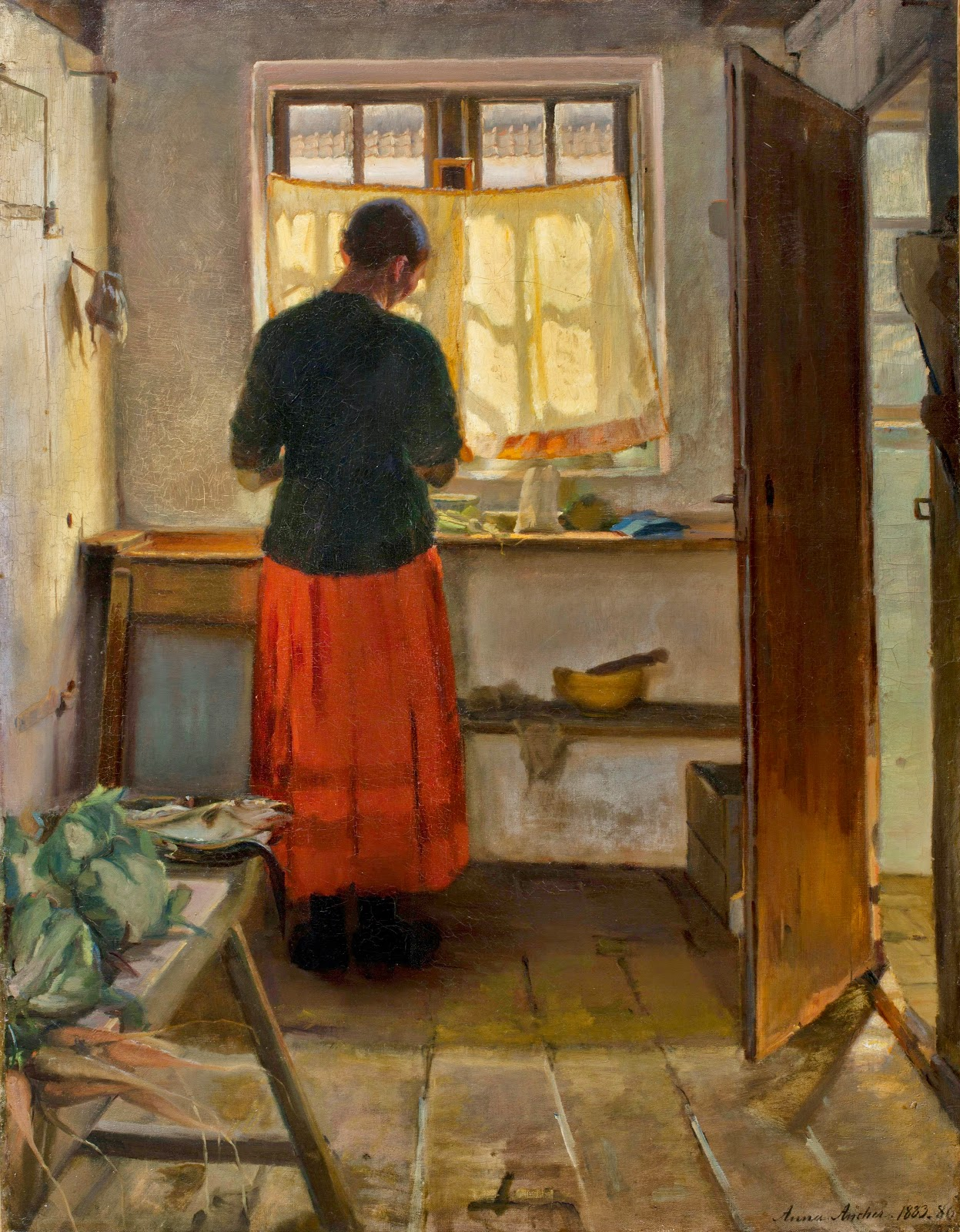 The Maid in the Kitchen 1883 1886 Anna Ancher WikiArt