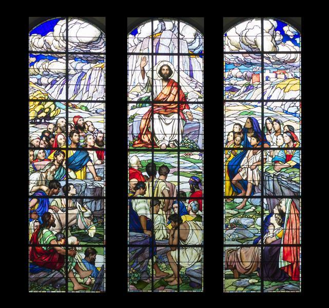 Sermon on the Mount Windows at Herzogenbuchsee Reformed Church near Berne, 1911 - Eugène Burnand