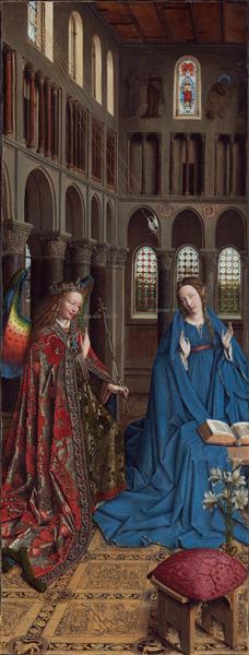 The Annunciation, c.1435 - Ян ван Ейк