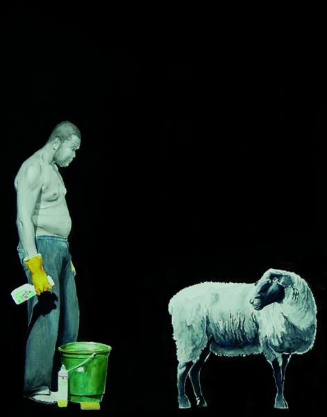 The sheep and me, 2014 - Sidney Amaral