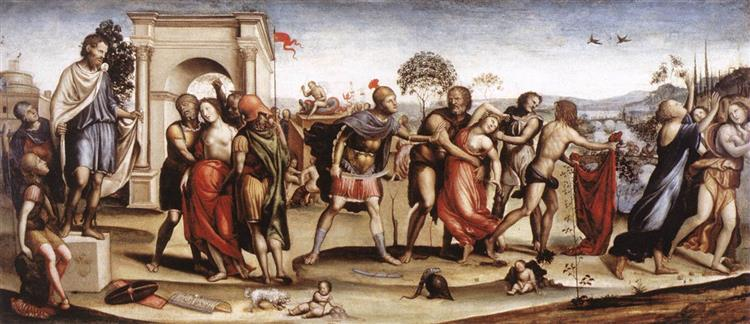 The Rape of the Sabine Women, 1507 - Giovanni Antonio Bazzi
