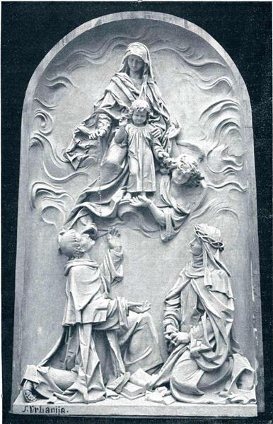 Mother Mary with Rosary, 1907 - Joseph Urbania