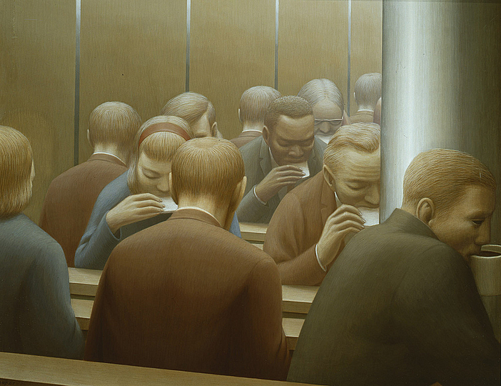 Lunch, 1964 - George Tooker
