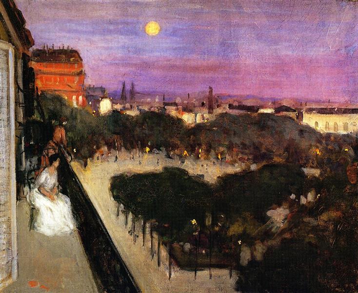 The Balcony - Frederick Carl Frieseke