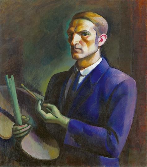 Self-Portrait with Palette, c.1912 - János Kmetty