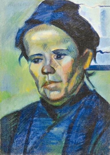 A Portrait in Blue, c.1915 - c.1920 - Kmetty János