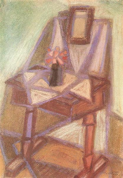 Side Table with Mirror, 1951 - János Kmetty