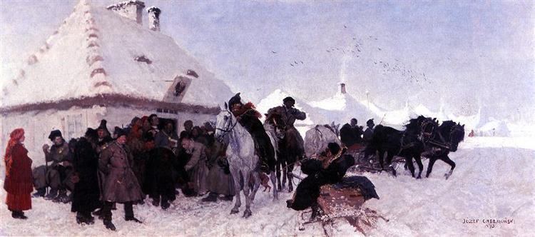 Case Before the Mayor, 1873 - Józef Chełmoński