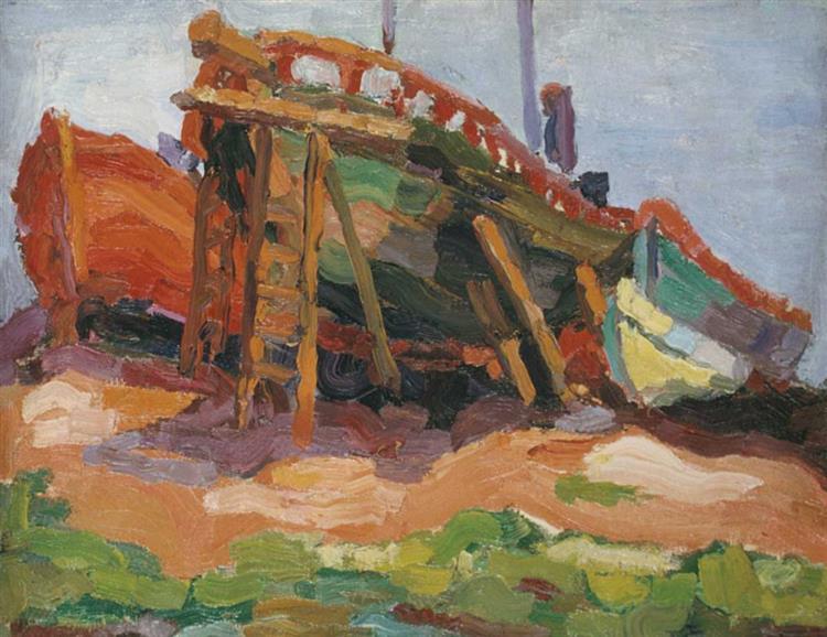 Barcas, 1922 - Raquel Forner
