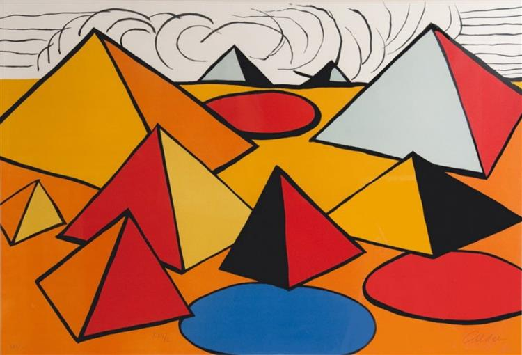 Pryamids and Clouds, 1970 - Alexander Calder