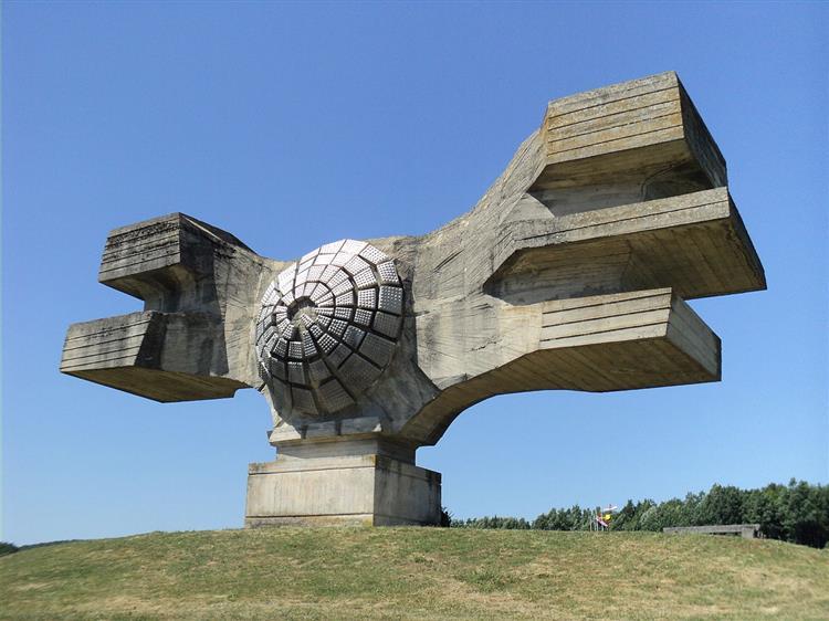 Monument to the Revolution, Podgarić, 1967 - Dusan Dzamonja