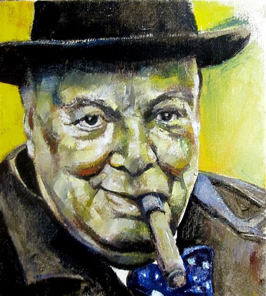 Portrait of Winston Churchill, 2018 - Zani Corrado