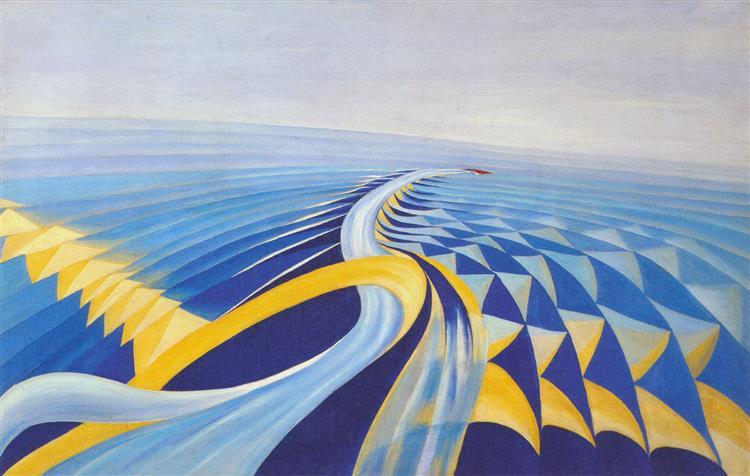 Speeding Motorboat, 1923 - Benedetta Cappa