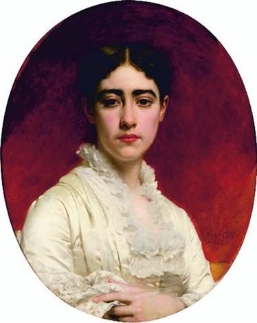 Portrait De Madame Mas, 1882 - Pierre-Auguste Cot