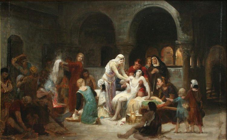 Sainte Elisabeth De Hongrie Soignant Les Malades - Pierre-Auguste Cot