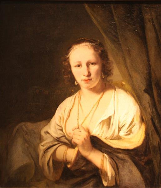 Women with Pearls in Her Hair, 1680 - Фердинанд Боль